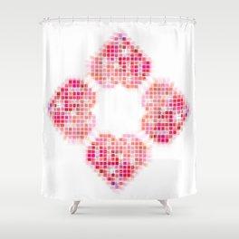 Heart Pop Shower Curtain