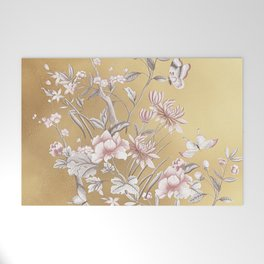 Chinoiserie Gold Welcome Mat