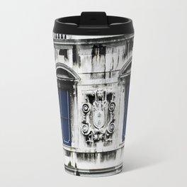 Blue and White Venice Building Travel Mug