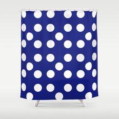 Dots - Blue / White Shower Curtain