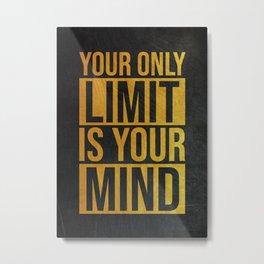 Golden Motivational Quote Metal Print