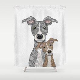 Blue & Fawn Shower Curtain