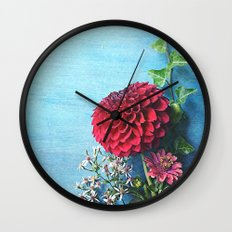 Summer Always Bloomed in Her Heart Wall Clock