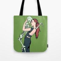 carpe diem Tote Bags featuring Carpe Diem by Angelus