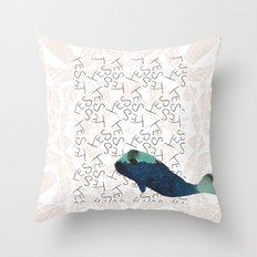 Blue Whale 2 Yes Throw Pillow