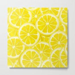 Splash of Lemon Watercolor Metal Print