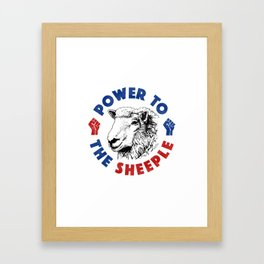 Power To The Sheeple Framed Art Print