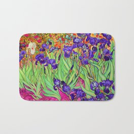 Van Gogh Purple Irises at St. Remy Bath Mat