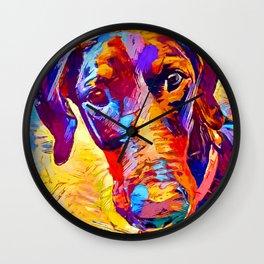 Doberman 4 Wall Clock