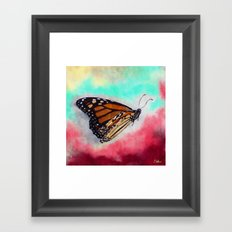 Butterfly - Here I Go Framed Art Print