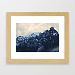 Sharp Peaks Framed Art Print