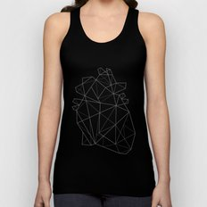 Origami Heart Unisex Tank Top