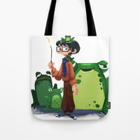 merlin Tote Bags featuring Merlin by Erin Eng
