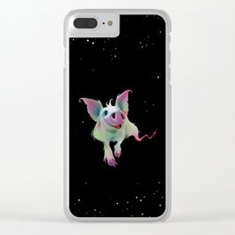 Psychedelic colorful Pig - Surreal -Fantasy-Animal love Clear iPhone Case