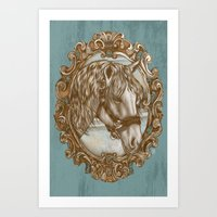Ornate Horse Portrait Art Print