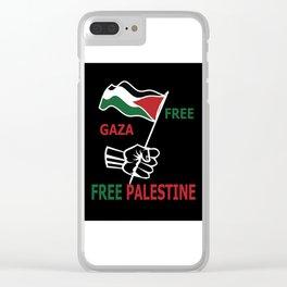 Free Palestine Clear iPhone Case