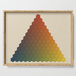 Lichtenberg-Mayer Colour Triangle vintage variation, Remake of Mayers original idea of 12 chambers Serving Tray