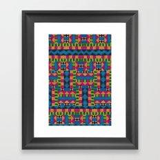 kiwi tribe Framed Art Print