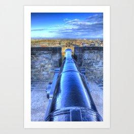 Edinburgh Castle Cannon Art Print