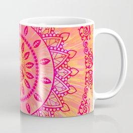 Sun Kissed Mandala Orange Pink Coffee Mug