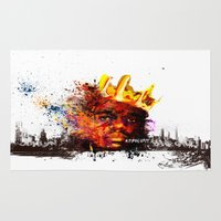notorious Area & Throw Rugs featuring Notorious B.I.G by kobymartin