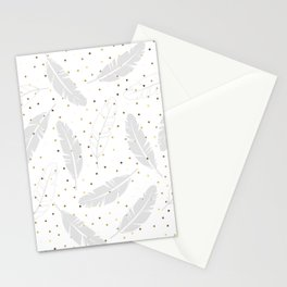 Pastel Gray on White Stationery Cards