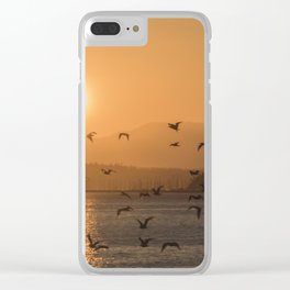 Flying into the sun Clear iPhone Case