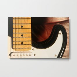 Guitar Neck Metal Print