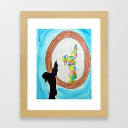 Mirror, mirror on the wall Framed Art Print