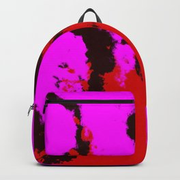 Ichisayo - Abstract Colorful Pink Red Camouflage Tie-Dye Style Pattern Backpack