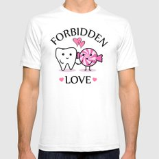 Forbidden Love White SMALL Mens Fitted Tee
