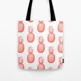 Coral Pineapple Tote Bag