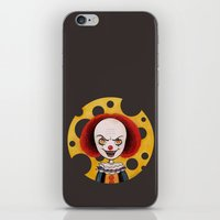 pennywise iPhone & iPod Skins featuring Pennywise Cheese by ajd.abelita