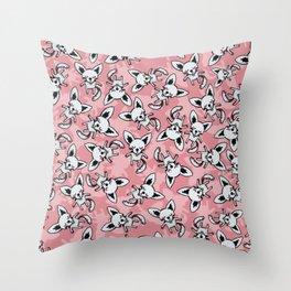 Litter Of Puppies Throw Pillow