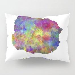 Uruguay in watercolor Pillow Sham