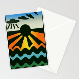 Wave Saucers Stationery Cards