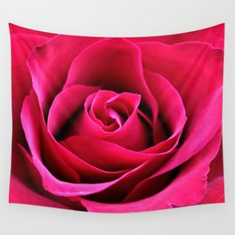 Red Rose Love Wall Tapestry