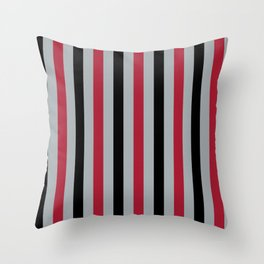 Atlanta Football Team Colors Throw Pillow