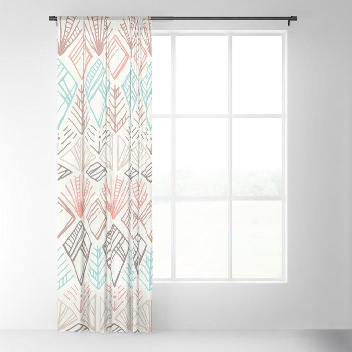 Boho Ethnic Pattern Sheer Curtain