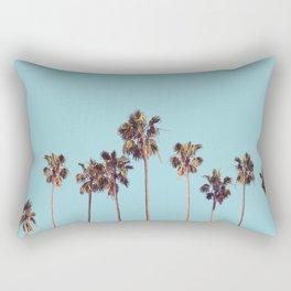 palm trees turquoise Rectangular Pillow