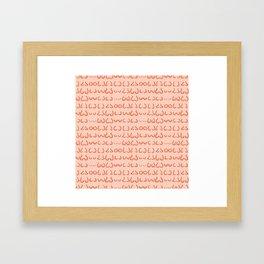 Boobs in all sizes Framed Art Print