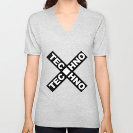 Techno Unisex V-Neck