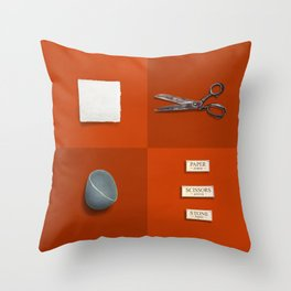 Paper, Scissors, Stone Throw Pillow