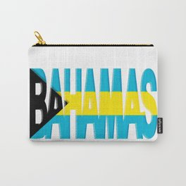 Bahama Font with Bahamian Flag Carry-All Pouch