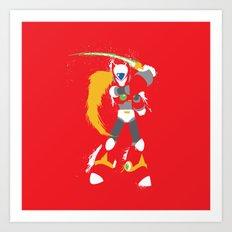 Zero (Mega Man X) Splattery Design Art Print