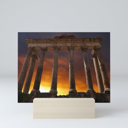 Temple of Saturn Ruins Mini Art Print