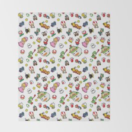 It's a really SUPER Mario pattern! Throw Blanket