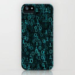 Binary Data Cloud iPhone Case