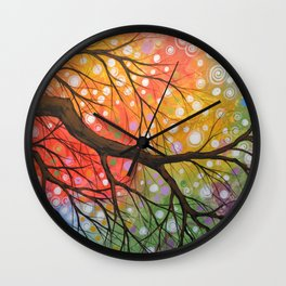 Abstract Art Landscape Original Painting ... Bursting Sky Wall Clock