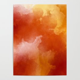 Sunset Glow Abstract Art Poster